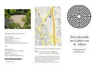 Ein Labyrinth im Garten von St. Albert - Sankt-antonius-online.de