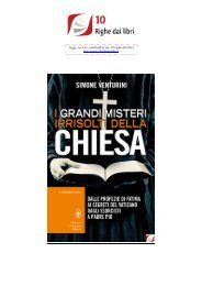VS244-I grandi misteri irrisolti della Chiesa.(9)OK - 10 Righe dai libri