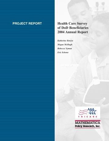 2004 TRICARE HCSDB Annual Report
