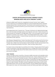 coastal air reschedules ruaha - Tanzania Tourist Board