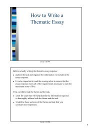 Thematic essay directions