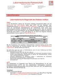Labormedizinische Diagnostik des Diabetes mellitus