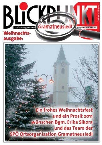 Weihnachts- ausgabe: - SP Gramatneusiedl - SPÖ