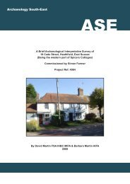 19 CADE STREET, HEATHFIELD, EAST SUSSEX - Archaeology ...
