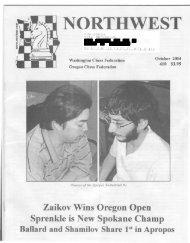 N WEST - Northwest Chess!