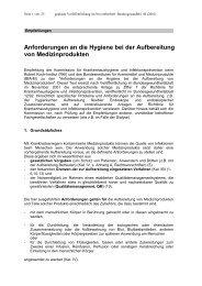 Anforderungen an die Hygiene bei der Aufbereitung - AAOZ