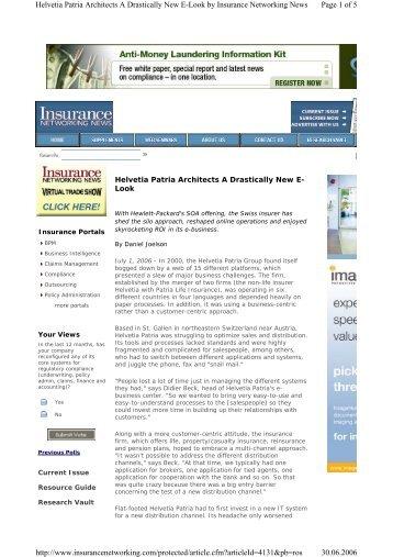 14. Insurance Networ.. - didier beck weblog
