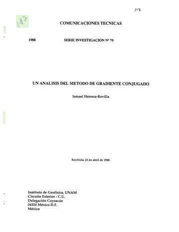 /I~ COMUNICACIONES TECNICAS UN ANALISIS DEL ... - UNAM
