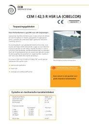 CEM I 42,5 R HSR LA (CIBELCOR) - CCB