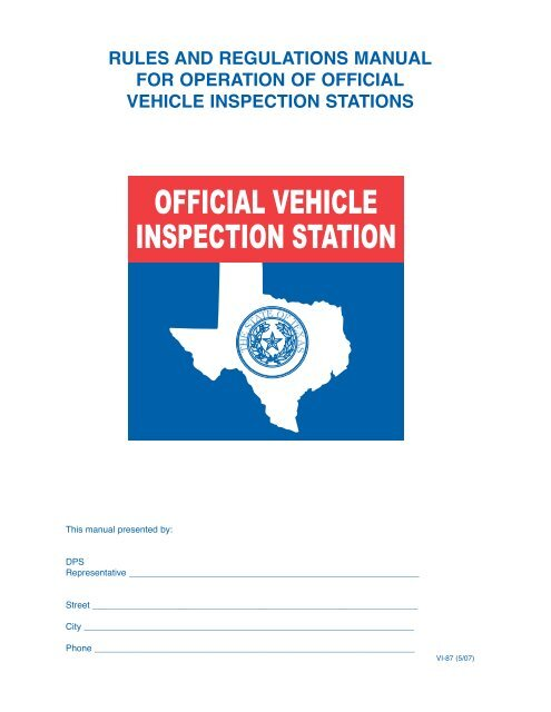 Texas Car Inspection >> Official Vehicle Inspection Stations Texas Department Of