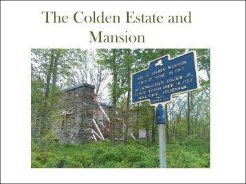 The Colden Estate and Mansion - Colden Preservation & Historical ...