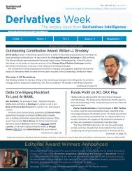 Derivatives Week - GlobeNewswire