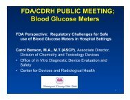 Regulatory Challenges for Safe use of Blood Glucose Meters in ...
