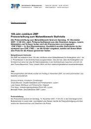 100-Jahr-Jubiläum ZMP Preisverleihung zum ... - Schule Schöftland