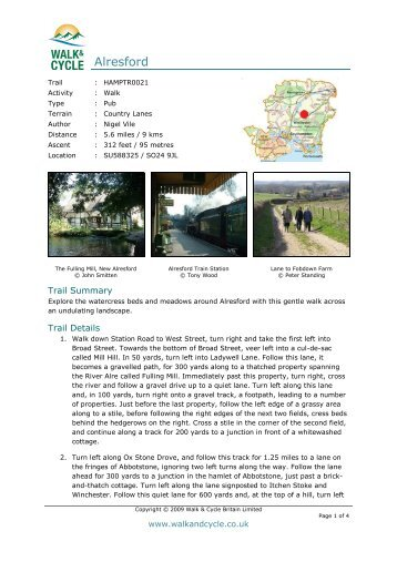 Alresford - Walk and Cycle Britain