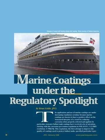 Marine Coatings under the Regulatory Spotlight - PaintSquare