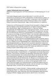 Legaler Waffenbesitz heute und morgen - Westernfreunde Flossing ...