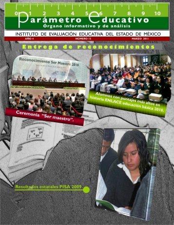 Parámetro Educativo N° 15 - Gobierno del Estado de México