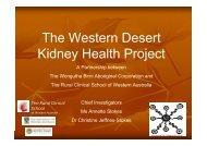 The Western Desert Kidney Health Project