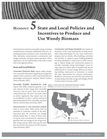State and Local Policies and Incentives to Produce and Use Woody ...