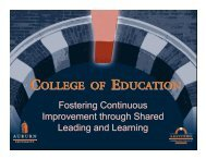 External Networks - College of Education - Auburn University