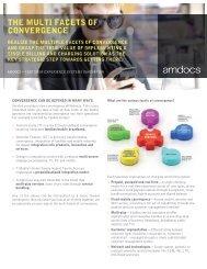 THe mULTi faCeTs of ConvergenCe - Amdocs