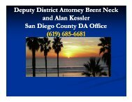 Deputy District Attorney Brent Neck and Alan Kessler San ... - NSRP