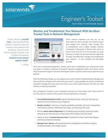 Engineer's Toolset - SolarWinds