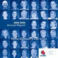 Complete Annual Report (2.7 MB) - Héma-Québec