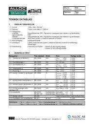 TEKNISK DATABLAD - Wallmann A/S