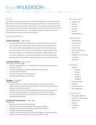 Freelance Designer - Bryanwilkerson.com