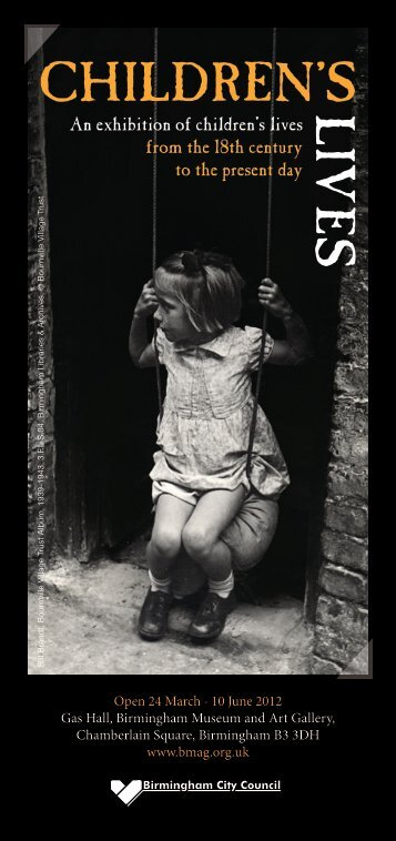 Children's Lives flyer (PDF - 744KB) - University of Birmingham