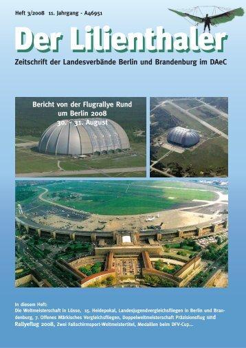 Zeitschrift der Landesverbände Berlin und Brandenburg im DAeC
