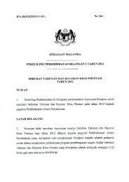 Pekeliling Perkhidmatan Bilangan 5 Tahun 2012 - Portal Pencen - JPA