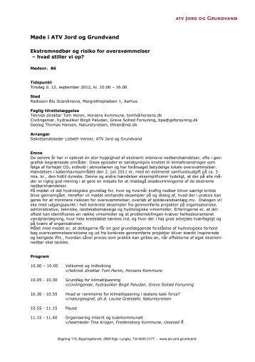 Ekstremnedbør og risiko for oversvømmelser - 12 ... - Klimatilpasning