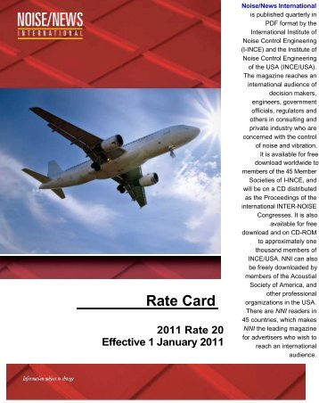 Rate Card - Noise News International