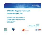 CARICOM Regional Framework Implementation Plan