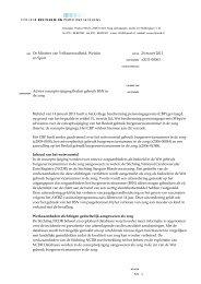 Bij brief van 14 januari 2011 heeft u het College bescherming ...
