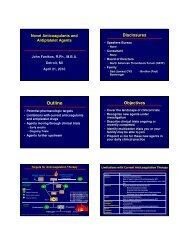 New Drugs Antiplatelets-Antithrombotics - John Fanikos, RPh, MBA ...