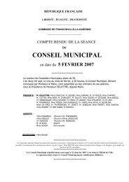 Conseil municipal du 5 février 2007 - Franconville