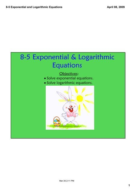 8-5 Exponential and Logarithmic Equations.pdf