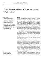 Social diffusion patterns in three-dimensional virtual worlds