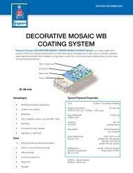 decorative mosaic wb coating system - Protective Coatings ...
