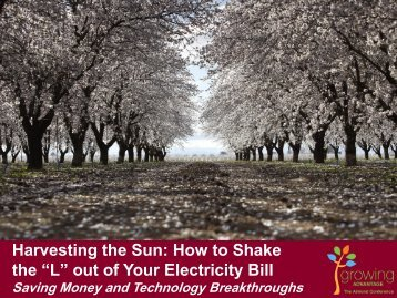 """Harvesting the Sun: How to Shake the """"L"""" out of Your Electricity Bill ..."""