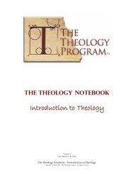 Introduction to Theology - Biblical Studies Foundation