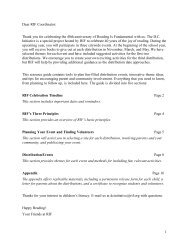 RIF Celebration Timeline - Reading Is Fundamental