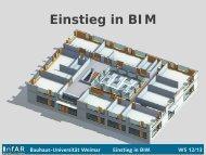Bauhaus-Universität Weimar Einstieg in BIM WS 12/13 - InfAR ...