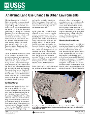 Analyzing Land Use Change In Urban Environments