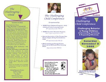 The Challenging Child Conference: Challenging Behavior in Young ...