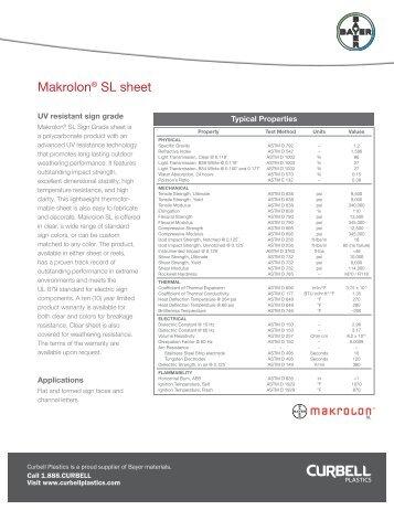 Makrolon® SL Sheet - Curbellplastics.com